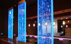 Breathtaking indoor and outdoor water walls, transparent water walls for your living room, illuminated water walls, modern water walls