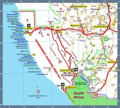 Map of Namibia Africa Road Map H Version 2010 4x4, Road Trip, Wanderlust, Africa, Travel, Viajes, Road Trips, Destinations