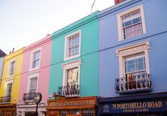 I wish to live here... off of Portobello Road in Notting Hill, London.