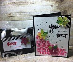 A Paper Pumpkin Thing Blog Hop - A Sara Thing Kit! Alternate Alternative Paper Pumpkin Card and Project April 2017, Treat bag, Tina's Crop Shop