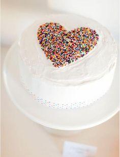 Sprinkle cake heart