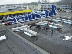 (Dak-) Constructie van de #lichtreclame voor Intermec @Nijmegen 024