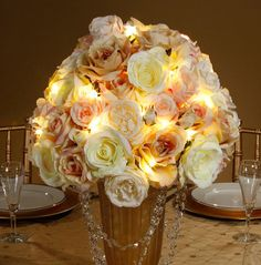 LED Silver Light String | Floral Supplies Afloral.com Wedding Supplies, wedding decor, wedding lighting, david tutera led light string, led lights, wedding bouquet lights only $5.99