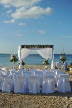 Foto de Decoración para Ceremonias de Boda en la Playa Vinyl Pergola, Pergola Kits, Beach Wedding Inspiration, Tropical Paradise, Ideas Para, Getting Married, Gazebo, Destination Wedding, Invitations