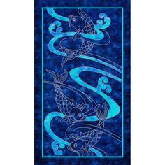 Koi Water & Waves Pattern   Sylvia Pippen Designs