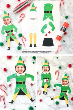 your child into Buddy the Elf with this free printable template and step by step directions. It's a fun and simple craft for grade school children. your child into Buddy the Elf with this free printable templa. Holiday Crafts For Kids, Crafts For Kids To Make, Xmas Crafts, Fun Crafts, 2nd Grade Christmas Crafts, Christmas Activities For Children, Simple Christmas Crafts, Childrens Christmas Crafts, Christmas Art For Kids