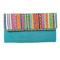 Torquoise Blue Envelope Bag