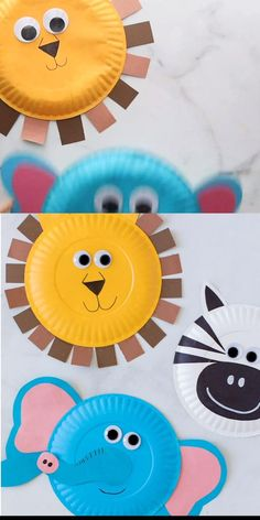 Paper Plate Art, Paper Plate Crafts For Kids, Animal Crafts For Kids, Craft Activities For Kids, Preschool Crafts, Art For Kids, Paper Plates, Paper Plate Animal Masks, Diy Paper Crafts