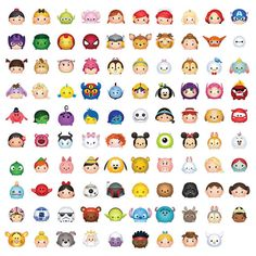 99 Tsum Tsum Character Digital size Print Files by OhWowDesign Kawaii Disney, 365 Kawaii, Cute Disney Drawings, Kawaii Drawings, Cute Drawings, Disney Pins, Disney Love, Disney Art, Disney Doodles