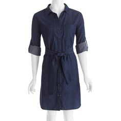 Womens Denim Shirt Dress