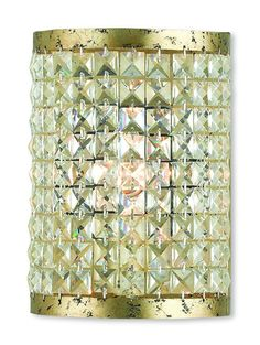 Livex Lighting Grammercy Hand Applied Winter Gold ADA Wall Sconce 50571-28
