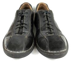 Clarks Shoes Solid Black Leather and Suede Oxford Shoes Mens Size 12  #Clarks #Oxfords