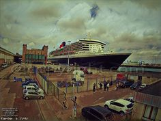 QUEEN MARY 2 TO CHERBOURG IN COTENTIN..THIS DAY by ERIC VILLEY-et-Carine...ARTISTE PHOTOGRAPHE