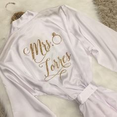 Bride Robe, Mrs Robe, Bridesmaid Robes, Wedding Robe, Getting Ready Robe, Bridal Shower, Wedding Robe Gift, Mother of the Bride, White Satin by LilyRoseWedding on Etsy