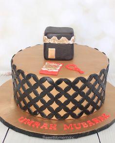 Kabbah/Umrah/Hajj Cake Fondant Cakes, Cupcake Cakes, Cupcakes, Wedding Sweets, Wedding Cakes, Eid Cakes, Eid Ideas, Desert Bar, Eid Food