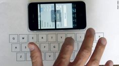 Turning a table into an iPhone keyboard