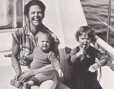 """happyswedes: """"Queen Silvia with two of her children Victoria and Carl Philip. """""""