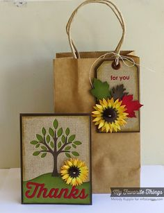 Burlap Background, Thankful Thoughts, Falling Leaves Die-namics, Many Thanks Die-namics, Out on a Limb Die-namics, Pierced Traditional Tag STAX Die-namics, Snow Drifts Die-namics, Sunflower Die-namics, Words of Gratitude Die-namics - Melody Rupple #mftstamps