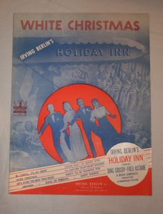White Christmas Sheet Music | Vintage Duds and Decor