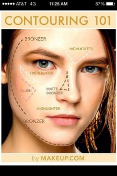 How Your Supposed To Apply Highlighter And BronzerPlease like if you found this tip helpful!
