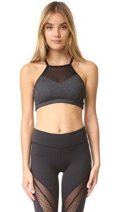 BEYOND YOGA Polka Dot Mesh Halter Bra. #beyondyoga #cloth #dress #top #shirt #sweater #skirt #beachwear #activewear