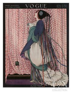 Vogue Cover - April 1915 Poster Print by George Wolfe Plank at the Condé Nast Collection