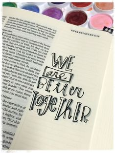 We are better together [credit to Stephanie Ackerman]