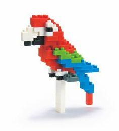 Nanoblock NBC_034 Parrot (Red-and-green Macaw) by Kawada..67. Micro-sized building blocks will enable you to execute even the finest details like never before. Not compatible with Lego blocks. Collect, build and display your works of art.. Includes detailed color instructions.. A 3D work of art that fits in the palm of your hand, create details with assorted sizes and colored pieces.. You don't have to be an engineer to create with Nano Blocks! With these micro-sized buildi...