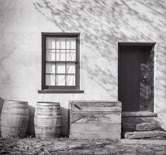 """Dappled ShadowsOn a Storefront"" Limited Edition Original fine art photograph from a 4x5 B&W negative."