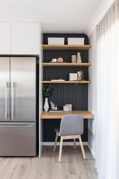 48 Small Space Ideas For Home Office Small Home Offices, Home Office Space, Home Office Design, Home Office Decor, House Design, Small Office, Office Ideas, Office Designs, Tiny Home Office