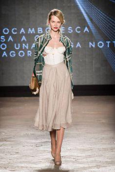 I love the bustier w/full skirt. So Italian. Daniele Vigiani Next Generation F/W 2014