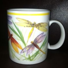 Rare Starbucks dragonfly artist mug