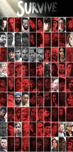 Cool chart showing who is living and who is dead from The Walking Dead.