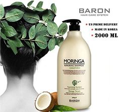 [BARON] MORINGA Hair Shampoo Limited Edition 2000ml 67.8 fl oz - For Dry and Damaged Hair >>> Continue to the product at the image link.