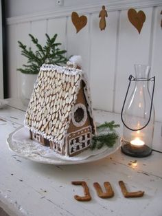 almond slice roof decor- would be cute for a driveway too