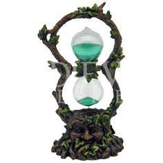 Green Man Sand Timer - 060-2133 by Medieval Collectibles