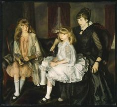 Emma and Her Children  1923  by George Bellows, he's bringing fancy back