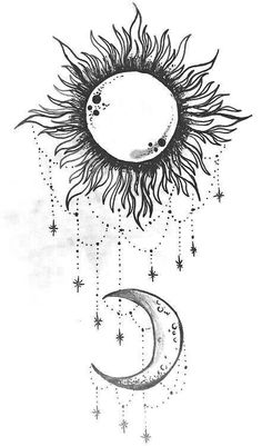 Sun and moon. I want this on my shoulder