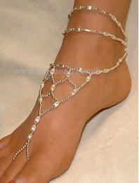Foot jewelry for the Bollywood dance party:)