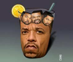 Ice Tea With Ice Cubes T-Shirt