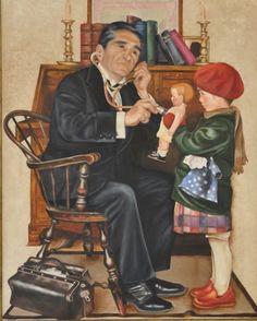 AVI TON METGE DE NINES (2005) FIGURA 92X73cm OLI SOBRE TELA  #barcelona #mercearmengol #artista #ilustradora #pintora #cuento #infantil #retrato #retratoporencargo