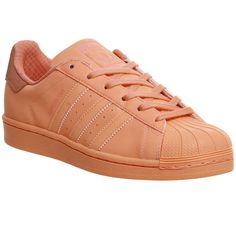 Adidas Superstar 1 ($82) ❤ liked on Polyvore featuring shoes, sun glow, trainers, unisex sports, stripe shoes, adidas shoes, unisex shoes, striped shoes and retro shoes