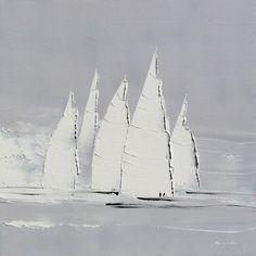 Voiles blanches | 60 x 60 cm | Huile sur toile