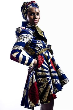 """mutoni:    Afro-Chique, based in London with creative director Janice Morrison  """"The distinctive designs capture the essence of African, Caribbean and European culture.""""  Pretty amazing trenchcoat!!"""