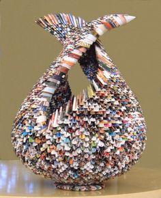 Recycled magazine bowls - Art, Craft and DIY DIY