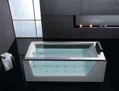 Clear Whirlpool Bath Tub