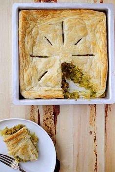 Samosa-Pie - I'm so going to do a vegan version of this...talk about comfort food!