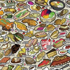 Chicago Food Map by Joe Mills, via Behance