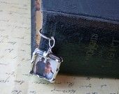 Photo Charm Bookmark Soldered Glass Personalized Custom Made. $23.00, via Etsy.