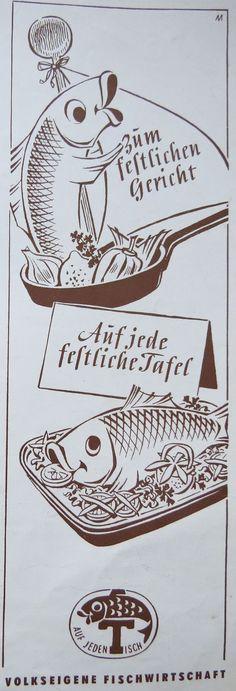 East German Vintage Ad - Werbung aus der DDR 1962